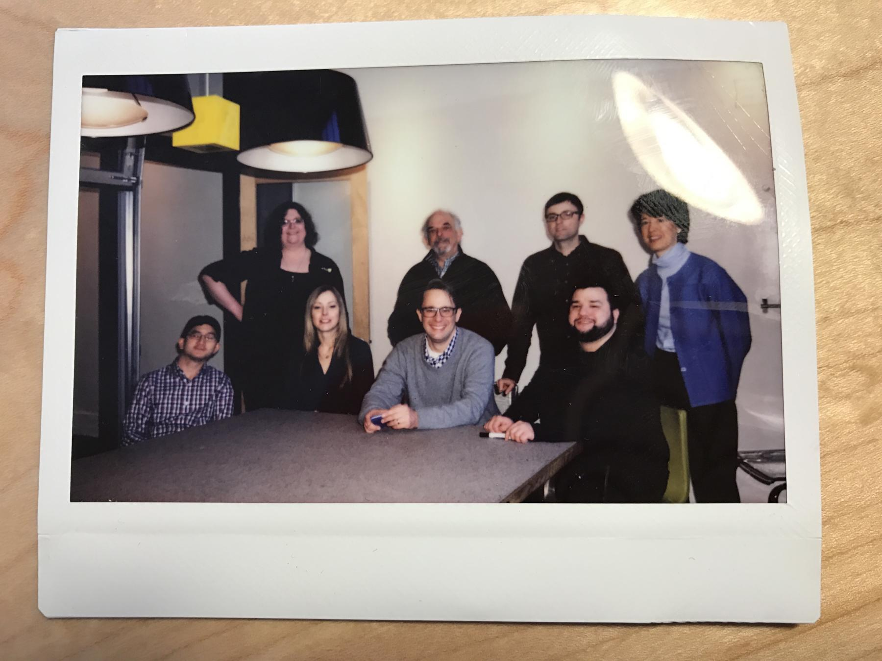 A photo of the polaroid from the last day in the office.