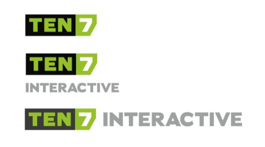 TEN7 logo 3 versions