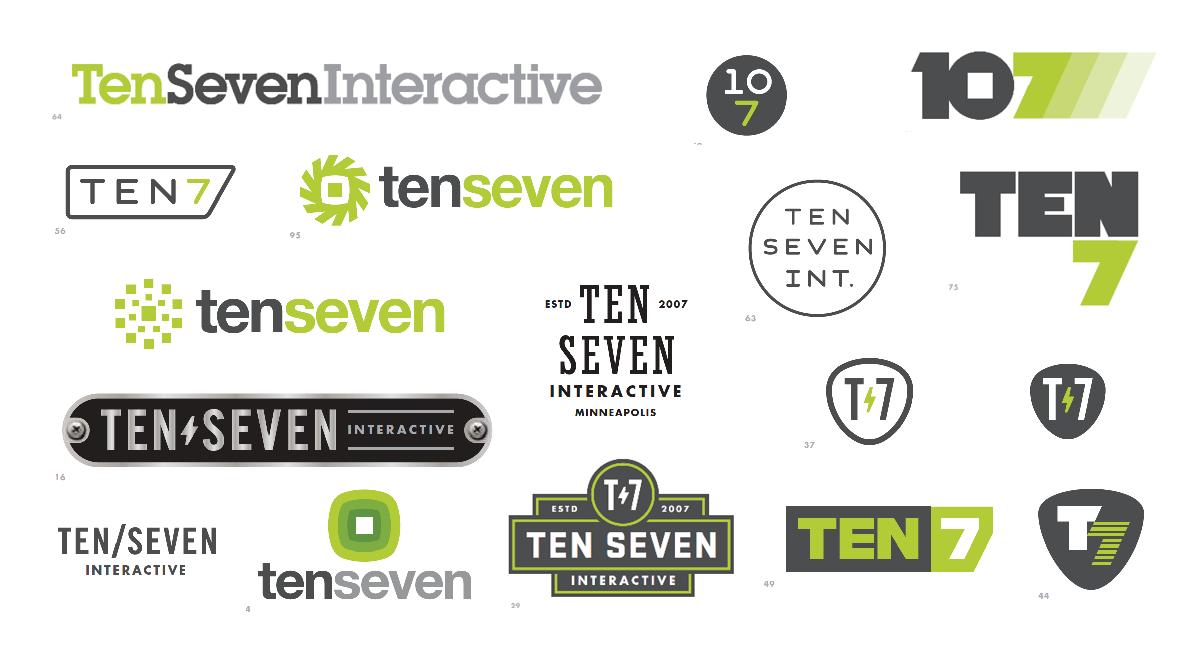 TEN7 logo concepts