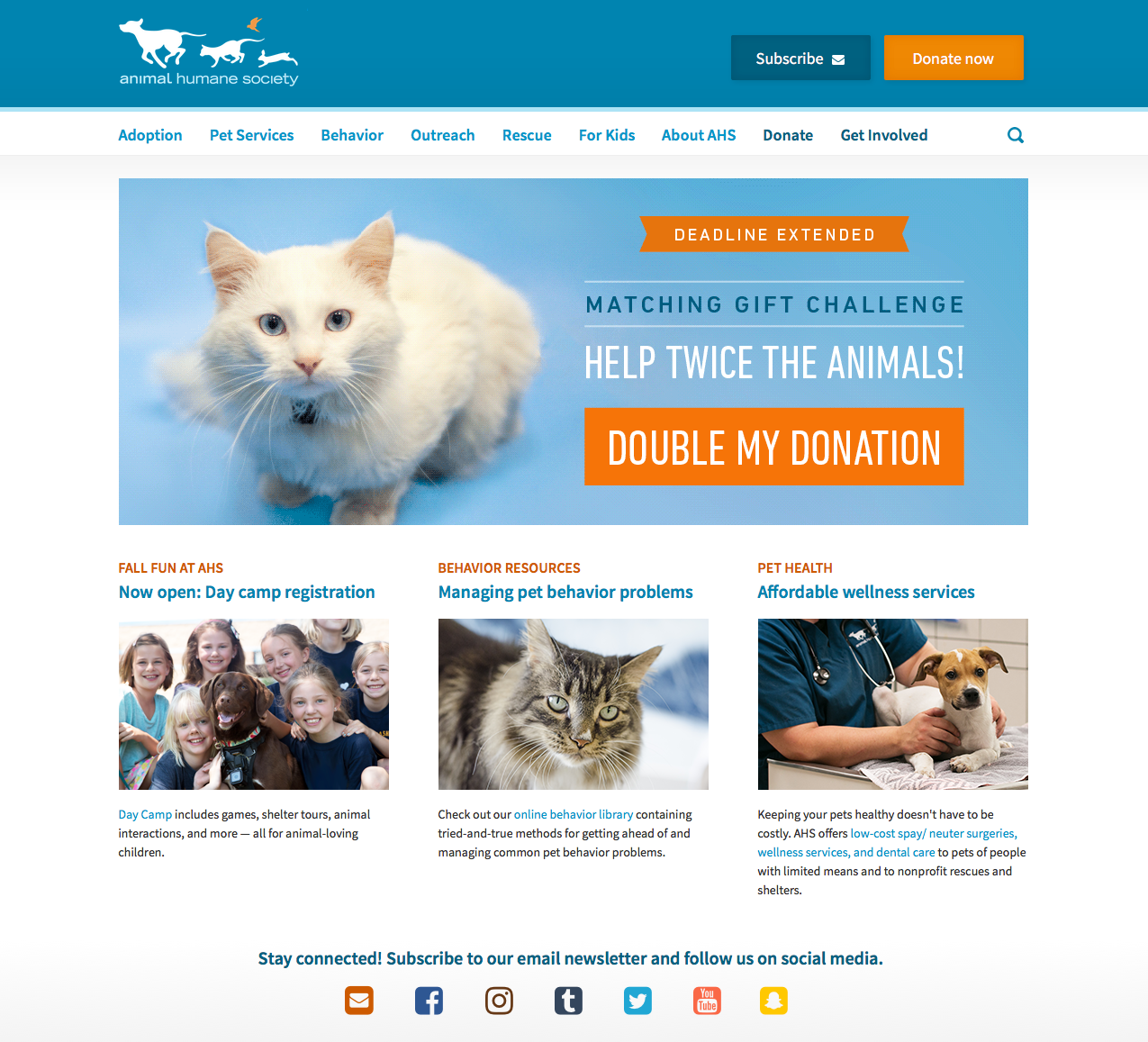 animalhumanesociety.org 2016, Drupal 6